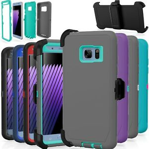 Samsung-Galaxy-S7-S7-Edge-Case-Cover-Shockproof-Fits-Otterbox-Defender-Clip