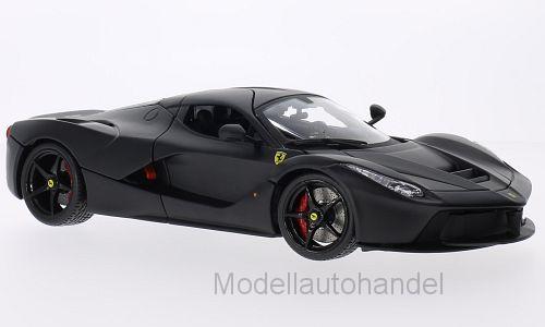 Burago - Ferrari LaFerrari matt-schwarz - 1 18 Bburago Signature   NEW