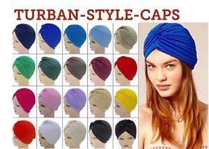 4bce2ff67e0 Image is loading Fashion-Indian-Satin-Bonnet-Stretchable-Unisex-Turban-Hat-