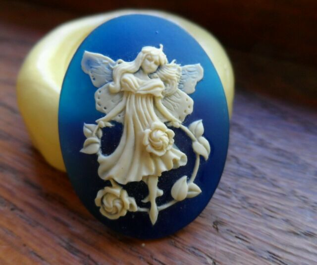 Fairy  cameo silicone push mold mould polymer clay resin  sugar craft