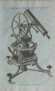 1788-DATED-PRINT-IMPROVED-EQUATORIAL-PORTABLE-OBSERVATORY-ASTRONOMY