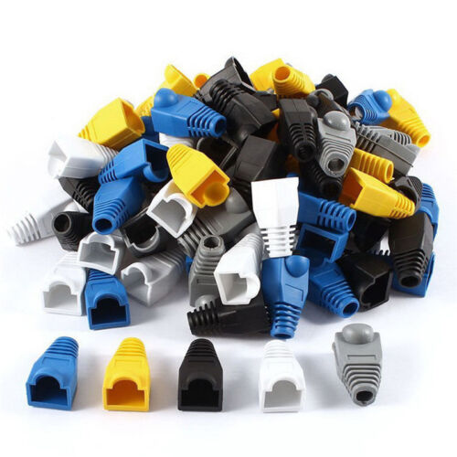 50PCS Modular RJ45 Network Cable Connector Plug Boot Strain Cover Caps S*