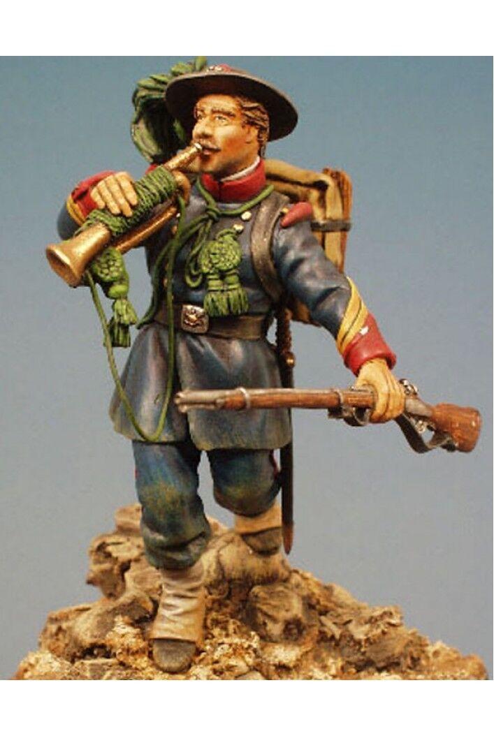 Bersagelier trumpetare vid Capture of Rome Tin Målad leksak Soldier MiniatyrKonst