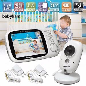 Wireless-2-Way-Talk-Baby-LCD-Video-Monitor-Camera-Temperature-Display-Babysitter