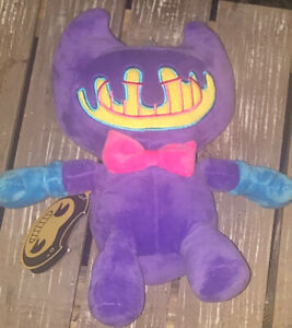 NEW Bendy and the Ink Machine Blacklight Grinning Bendy 7-Inch Plush Purple