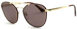 Prada-Damen-Herren-Sonnenbrille-SPR63T-VIY-6X1-55mm-rot-gold-verspiegelt-178-57