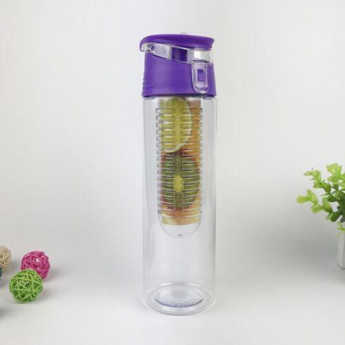 700//800ML Fruit Fusion Infusing Water Bottle Sports Health Juice Maker UK Stock