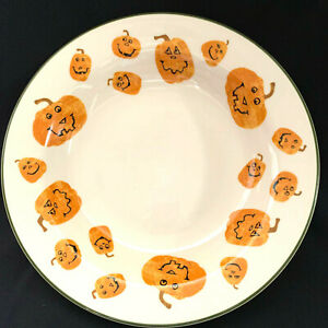 "Longaberger Trick Or Treat Halloween Pumpkin Bowl 12"" Unused"