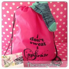 VICTORIA SECRET VSX Sport no show ankle Socks & Drawstring Backpack Gift Set