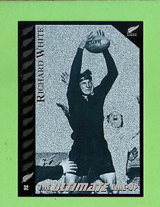 "1995 NEW ZEALAND ALL BLACKS RUGBY UNION CARD #32 RICHARD ""TINY"" WHITE"