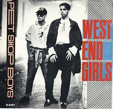 PET SHOP BOYS  West End Girls / A Man Could Get Arrested 45 with PicSleeve