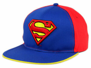 251b7a43f816f Image is loading Superman-adjustable-snapback-hat-DC-Comics-Blue-yellow-
