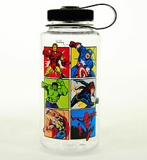 Nalgene Tritan Wide Mouth BPA Free 32oz Black Cap/Clear AVENGERS Water Bottle