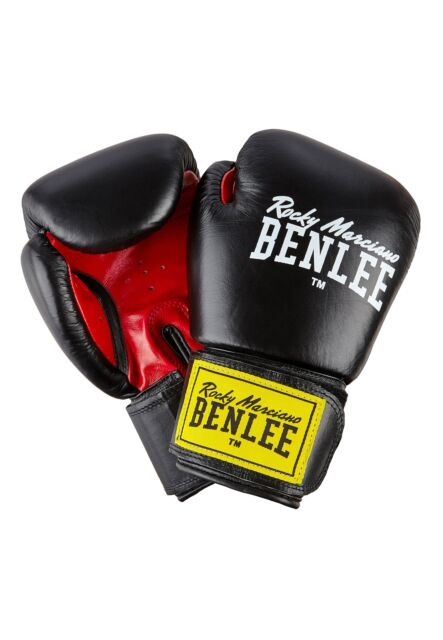 BENLEE Leather Boxing Gloves Fighter Black//Red 10 12 14 16 OZ