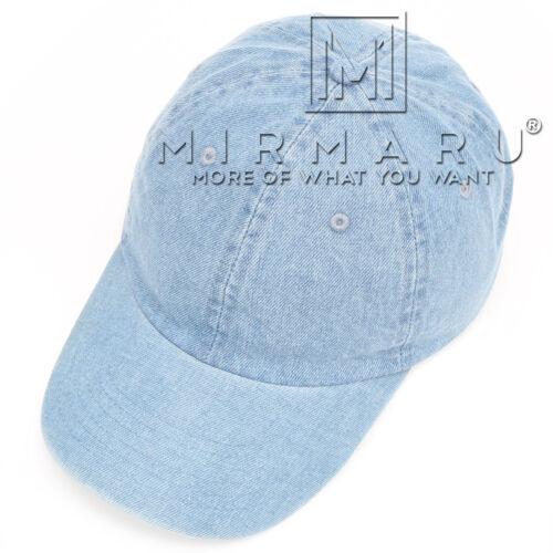 MIRMARU Summer Casual 100/% Cotton Denim Baseball Cap Hat With Adjustable Strap.