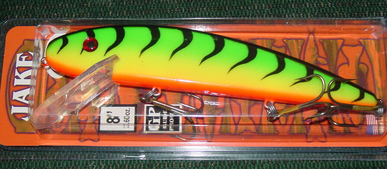 8-Inch Musky Mania Jake Fire Tiger