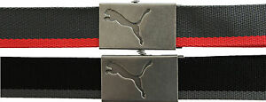 Puma-Core-Sangle-Ceinture-en-noir-gris-ou-gris-Rouge