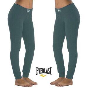 Pantalone-donna-EVERLAST-sport-XL-felpa-inverno-polsino-leggings-e-joggers-verde
