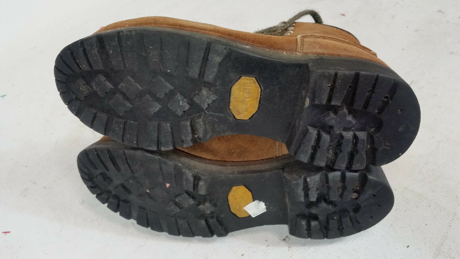 Vintage Vibram Hiking Mountaineering Vibram Vintage Rosso Wing Boots Uomo 7 M USA Leather Irish 300412