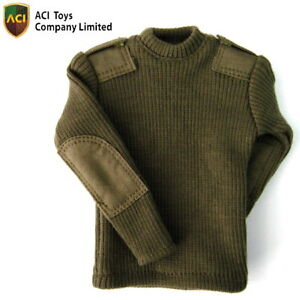 ACI-Toys-1-6-Military-Sweater-OD-Green-Rd-Neck-Now-AT003E