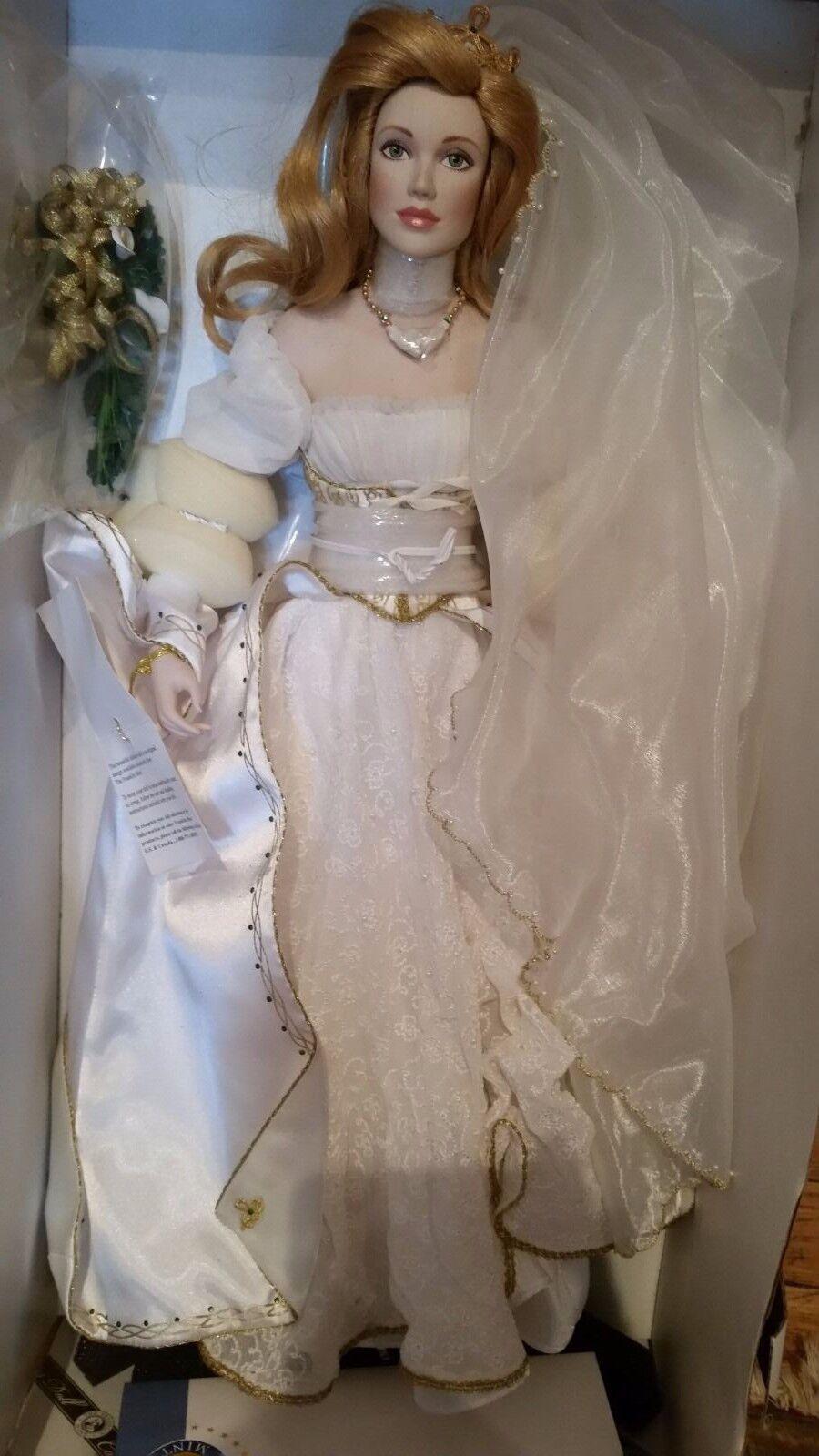 Franklin Mint Hermoso Colleen la novia irlandesa Nueva Muñeca de porcelana Limitado Raro