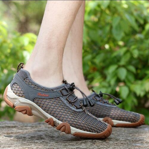 Mens Mesh Hollow Sports Casual Shoes Beach Lace Up Hiking Sandals Outdoor S768