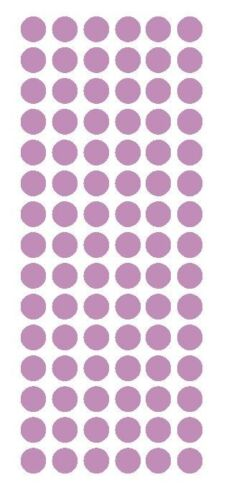 """1//2/"""" LILAC Round Vinyl Color Coded Inventory Label Dots Stickers USA MADE"""