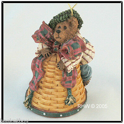 LONGABERGER BASKET BOYDS MICHAEL BEAR ORNAMENT ~ 1st in Series NUMBERED ~  NEW