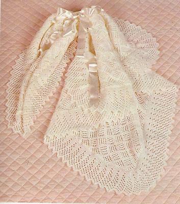 Beautiful Baby Shawl Knitting Pattern DK Lace edge 835