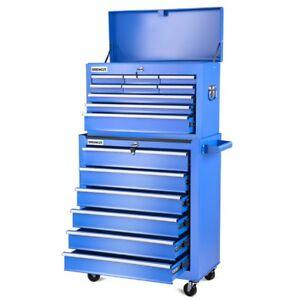 Carro-para-herramientas-PRO-armario-acero-4-ruedas-16-cajones-Azul-GREENCUT