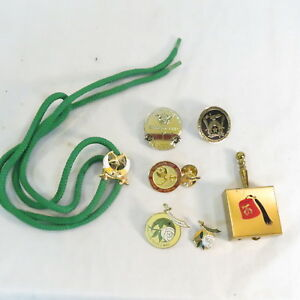 Details about Vintage Masonic Mason Shriner Lapel Pins, bolo tie & pocket  ashtray