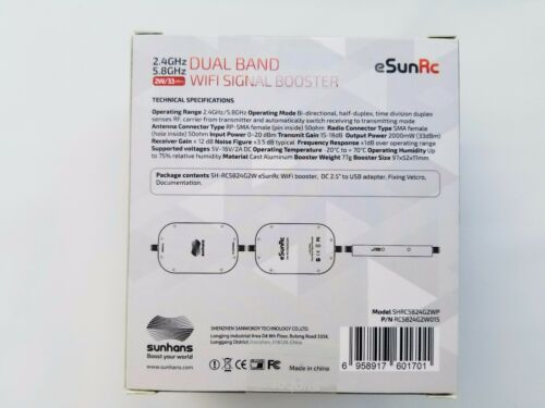 US Distributor Expedited 1-3 day shipping NEW Sunhans 2.4//5.8GHz DUAL BAND 2W