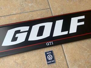 VW-Golf-GTI-License-Plate-Holder-Frame-Surround-with-White-GOLF-Insert
