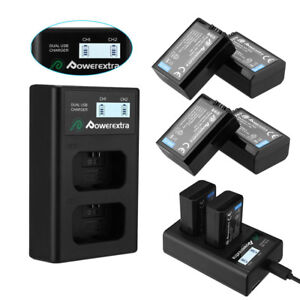 NP-FW50-Battery-for-Sony-Alpha-A6500-A6300-A6000-A7r-A7-Dual-USB-LCD-Charger