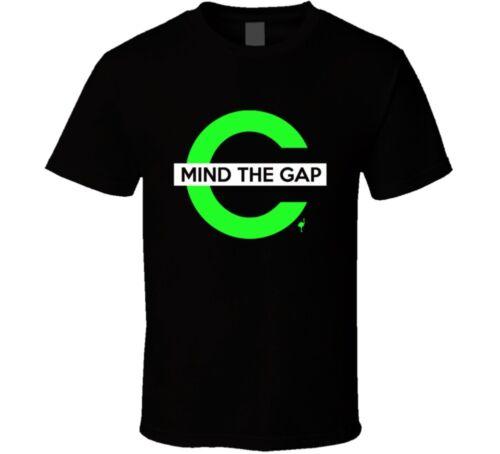 MIND THE GAP SIGN tee s m l xl 2xl 3x 4x 5x 6x MENS BLACK T Shirt