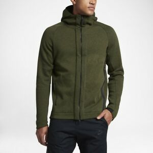 f523a6ec Details about Nike Men's Sportswear Tech Fleece Full Zip Hoodie Men's Size  Small S Olive Green
