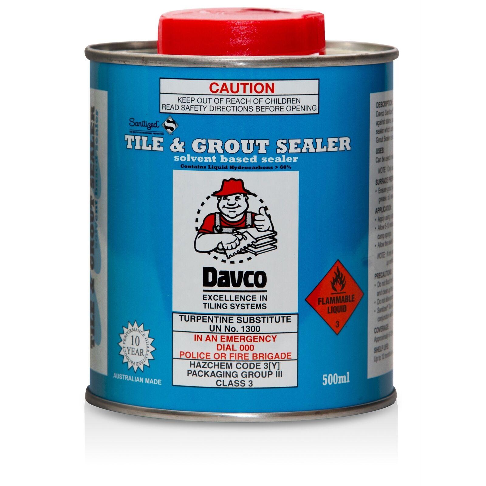 DAVCO Sanitized Tile & Grout Sealer 500ml Solvent Based Water ...