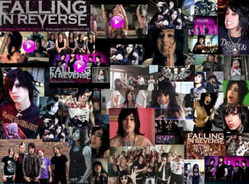 Falling In Reverse Music Stars Art Deco Poster Wall Fabric Canvas 3601