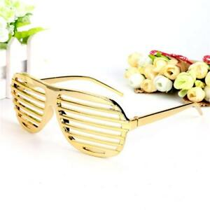 f69435ba52c Details about Novelty Gold Shutter Shades Sunglasses Funny Eye Glasses  Party Photo Props