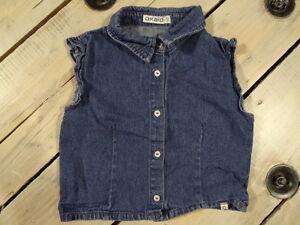 Chemisier-sans-manches-en-jeans-bleu-uni-OKAIDI-Taille-4-ans-102-cm-super-etat