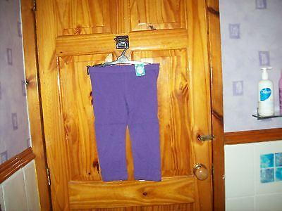 *** Nuovo *** Pumpkin Patch Viola/fiocco D'uva 3/4 Leggings Età 8-mostra Il Titolo Originale