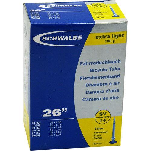 Schwalbe SV 14 extra leicht Fahrrad Schlauch 26″