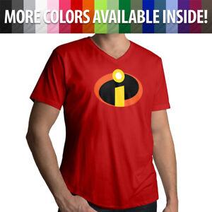 Disney-The-Incredibles-Logo-Symbol-Costume-Unisex-Mens-Women-Tee-V-Neck-T-Shirt