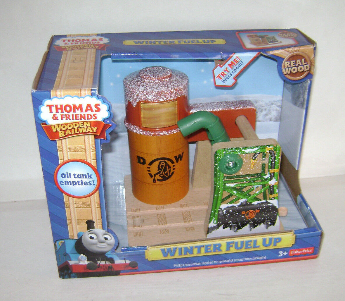NYA Fisher Price Thomas och vänner träen järnvägway Train WINTER FUEL UPP UT
