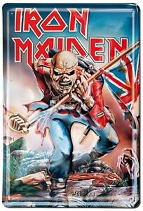 Iron-Maiden-The-Trooper-con-Relieve-Acero-Signo-300mm-X-200mm-Lsh