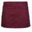 miniature 12 - Plain Black Half Size Waist Waiter Waitress Apron for Bar café Pub 2 Pockets.