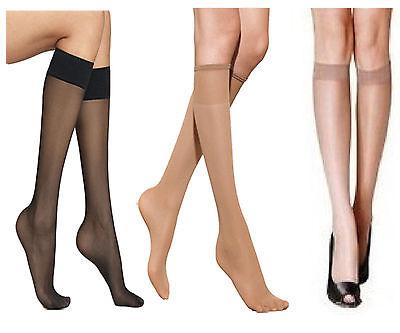 Mujer Pop Calcetines Altura a Rodilla medias 15 Denier Cómodo Top Número Zapato