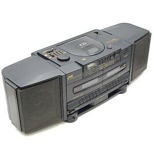 JVC Vintage Portable CD Player Boom Box AM/Fm Radio PC-X100 For Parts or Repair