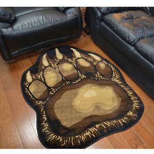 Lodge Cabin Bear Paw Rustic Area Rug **Free Shipping**