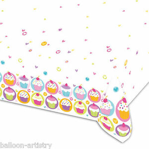 137cmx213cm-Colourful-Cupcakes-Birthday-Party-Disposable-Plastic-Table-Cover